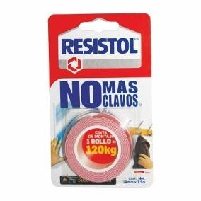 RESISTOL CINTA MONTAJE NO MAS CLAVOS 120 K ROJA
