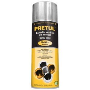 pintura en aerosol cromo metalico