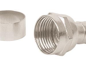 Conector coaxial RG 6 tipo campana