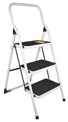 Escalera tubular plegable 3 pelda os pretul ferrekasa for Escalera plegable homecenter