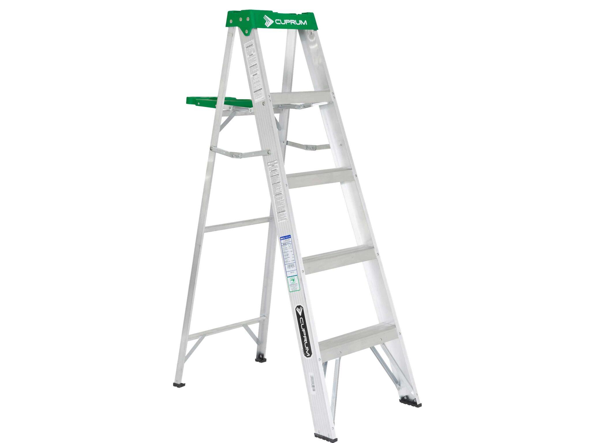 Escalera de tijera de aluminio 4 pelda os cuprum for Escalera aluminio 5 peldanos