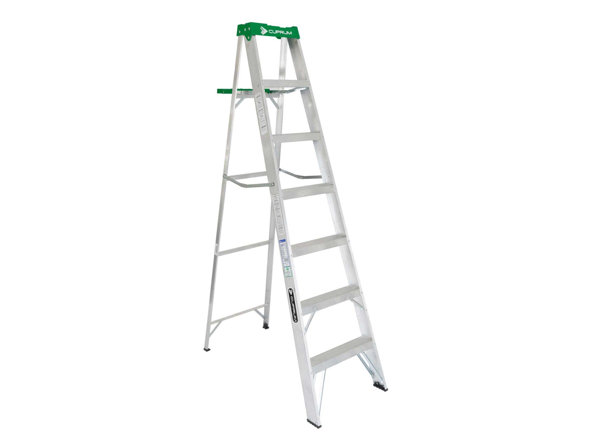 Escalera de tijera de aluminio 6 pelda os cuprum for Escaleras cuprum