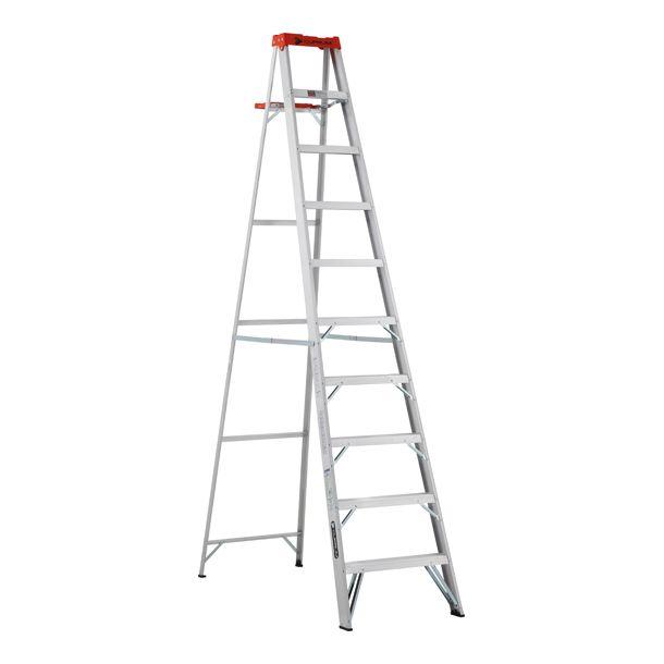 Escalera de tijera de aluminio 9 pelda os cuprum for Escaleras 10 peldanos de tijera