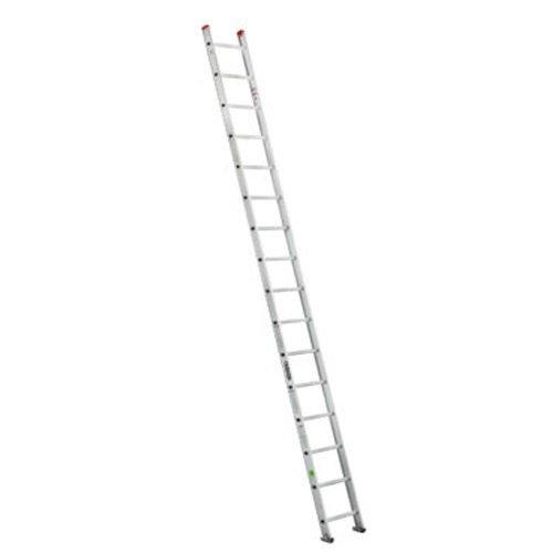 La Escalera Recta De Aluminio De14 pies de altura es ideal para actividades domésticasademás de comerciales. Está fabricada en aluminioy cuenta con14 peldañospor lo que permiten al usuario un alcance máximo de trabajo de5.20 metros.