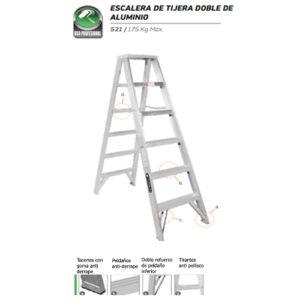 Escalera De Tijera Doble Aluminio 4 Peldaños CUPRUM