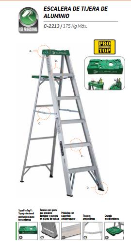 Escalera De Tijera De Aluminio 5 Peldaños CUPRUM
