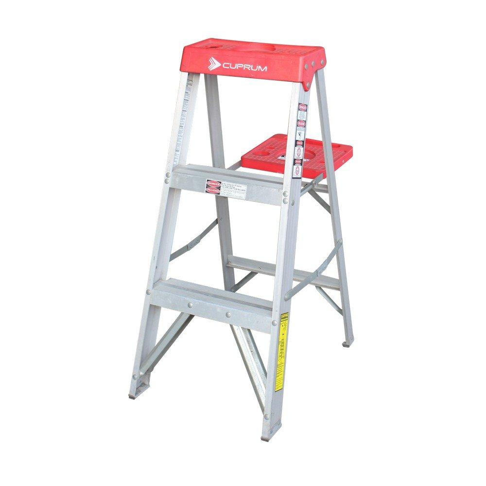 Escalera de tijera de aluminio 2 pelda os cuprum for Escalera aluminio 2 peldanos