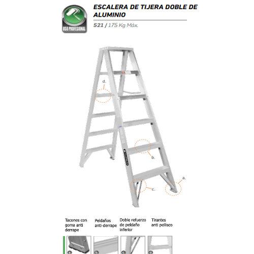 duradera y econ/ómica para caravanas de Crusader Escalera de doble pelda/ño de acero