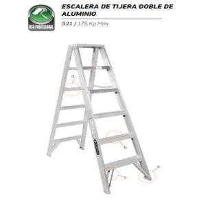 Escalera De Tijera De Fibra De Vidrio 5 Peldaños CUPRUM